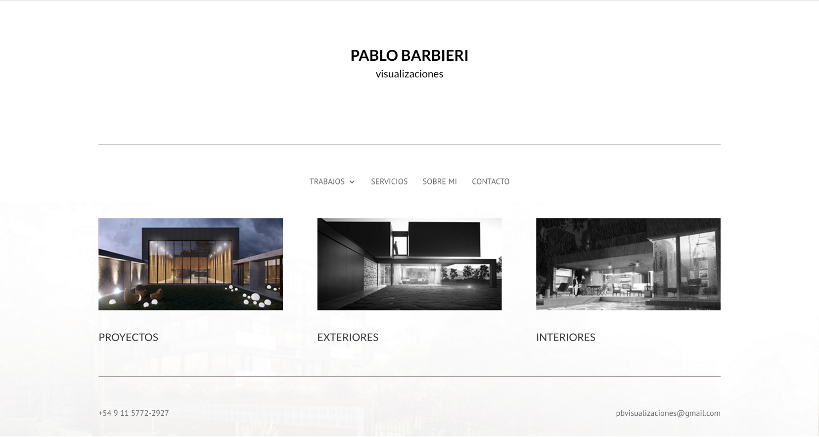 Sitio Web Pablo Barbieri Home