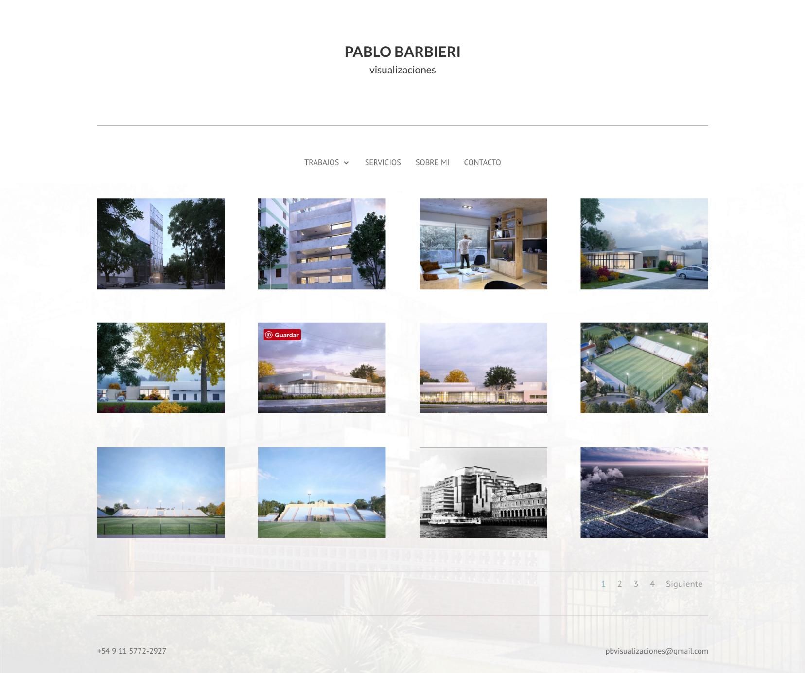 Sitio Web Pablo Barbieri Galería
