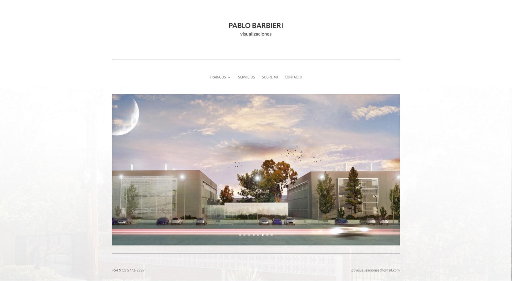 Sitio Web Pablo Barbieri Trabajos